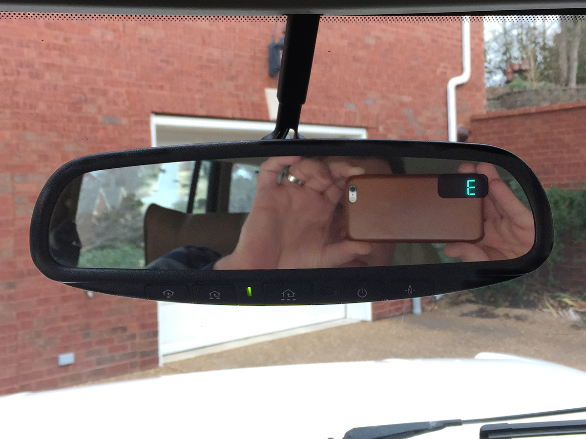 Range Rover Classic Rear View Mirror Fix 1998 Tail Light Wiring And Heres The Finished Product After Calibrating Compass Three Slow Turns In A Circle Homelink Check Unsightly Liquid Gone